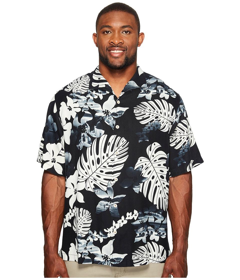 Tommy Bahama Big & Tall - Big Tall Aloha Fronds Camp Shirt (Coal) Men's Clothing