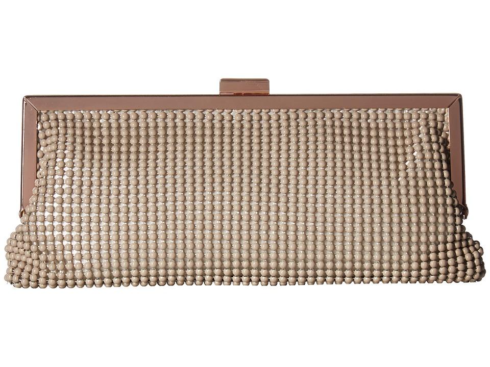 Jessica McClintock - Erin Ball Mesh Frame Clutch (Taupe) Clutch Handbags