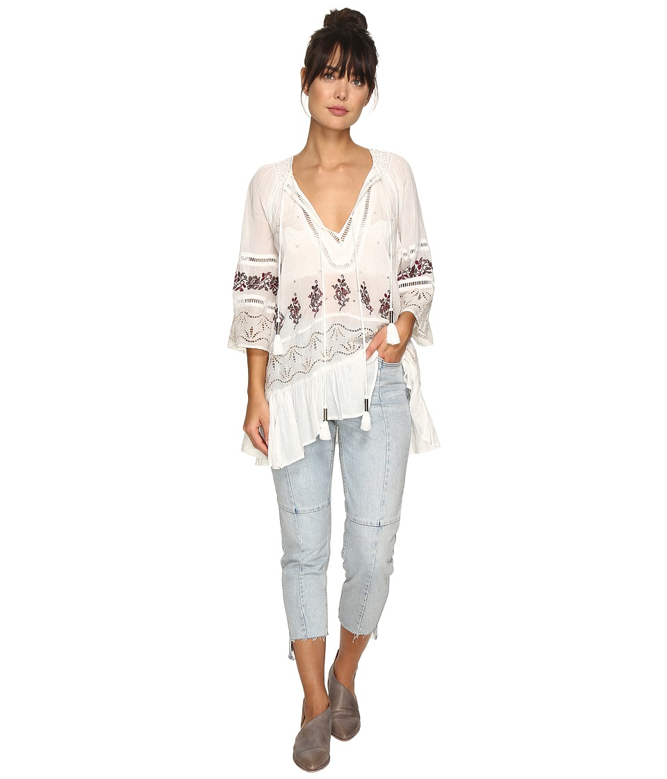 Free People - You're Mine Peasant Tunic (Ivory Combo) Women's Clothing