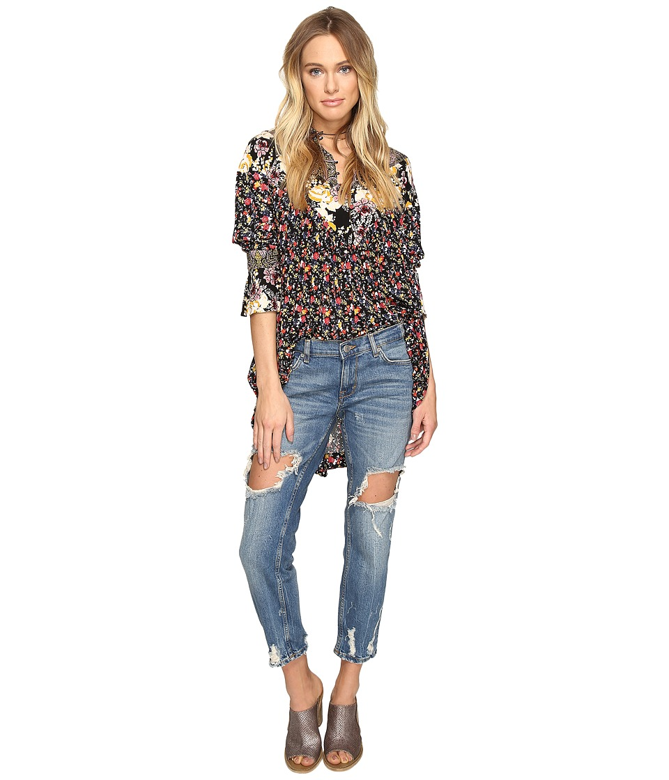 Free People - Wildflowers Fields Printed Tunic (Black) Women's Clothing