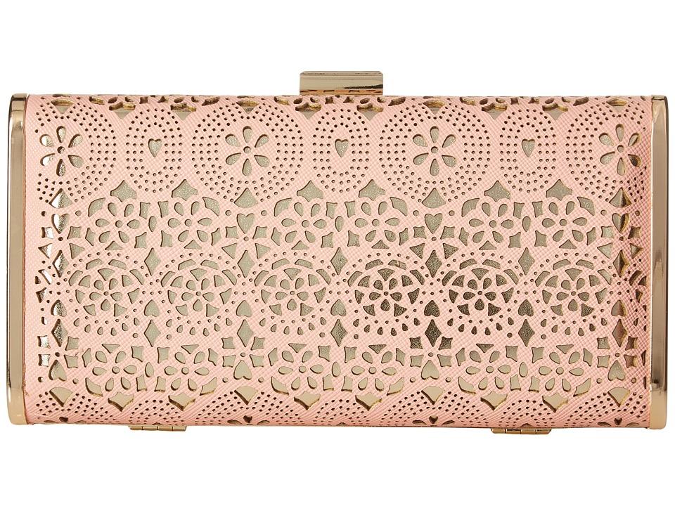 Jessica McClintock - Heather Perforated Minaudiere (Blush) Handbags