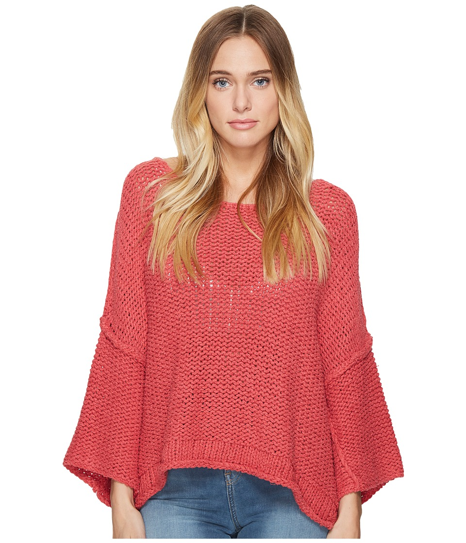 Free People - Halo Pullover (Coral) Women's Clothing