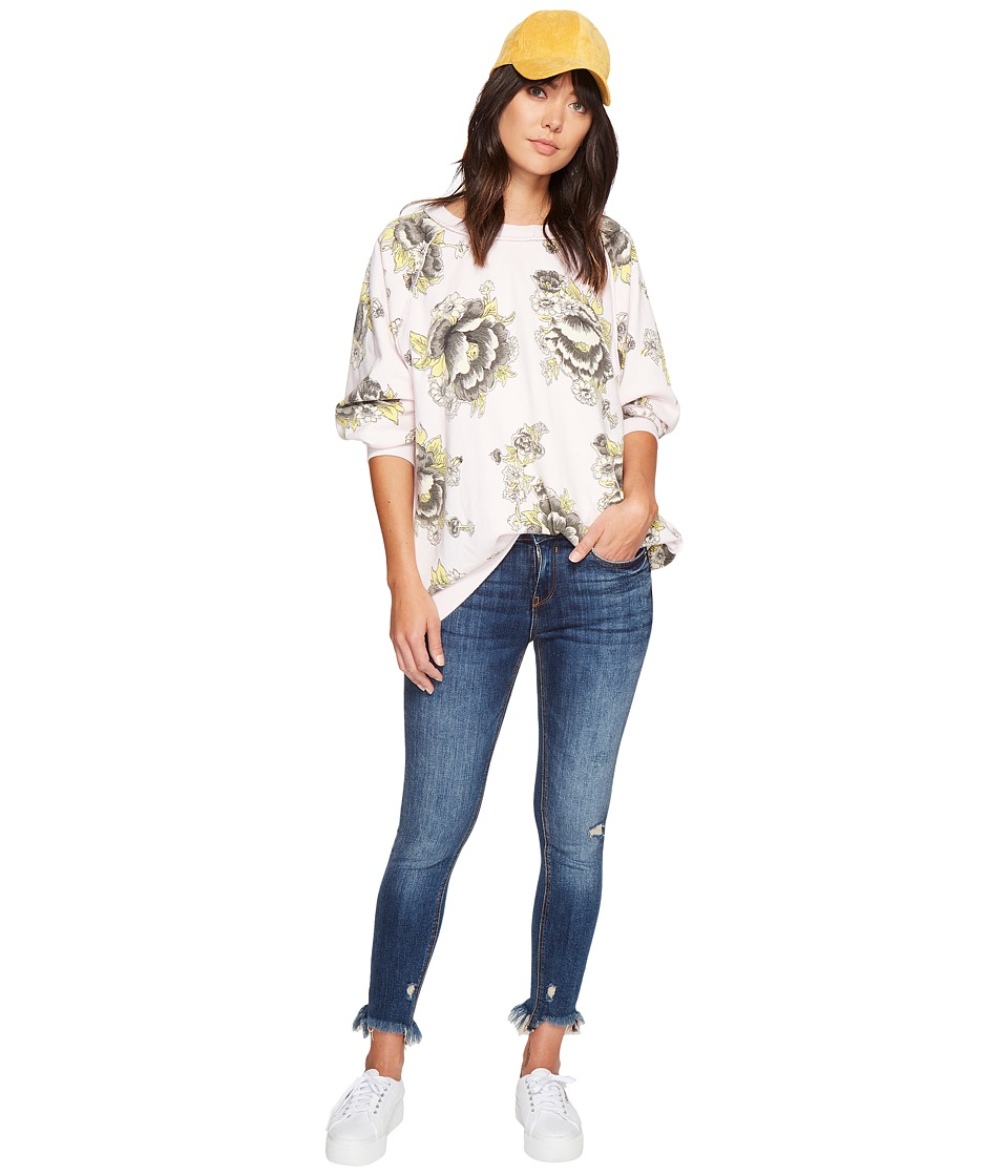 Free People - Go On Get Floral Top (Pink) Women's Clothing