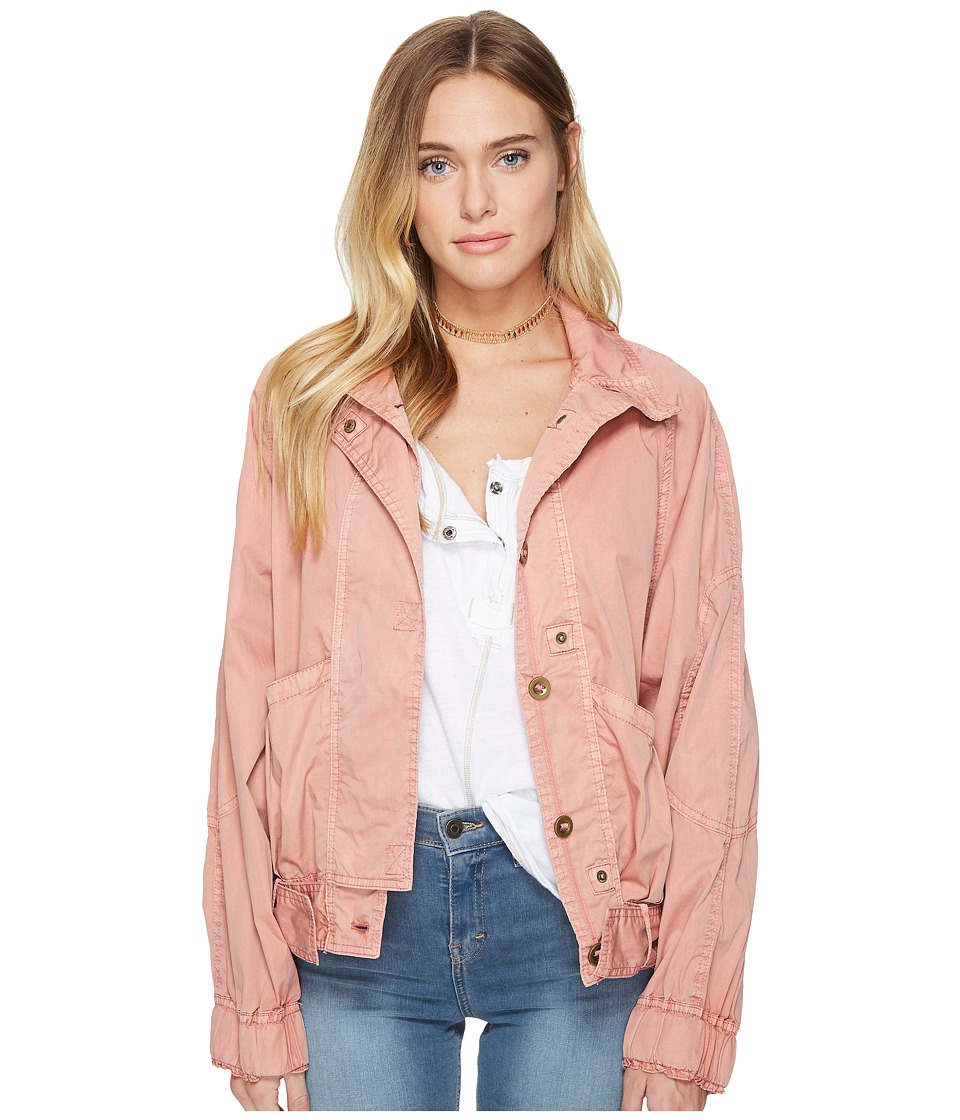 Free People - Parachute Jacket (Light Red) Women's Coat