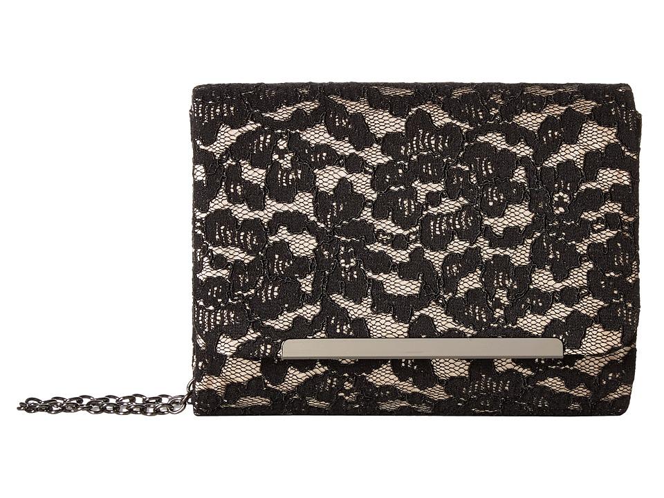 Jessica McClintock - Katie Lace Shoulder Bag (Black/Champagne) Shoulder Handbags