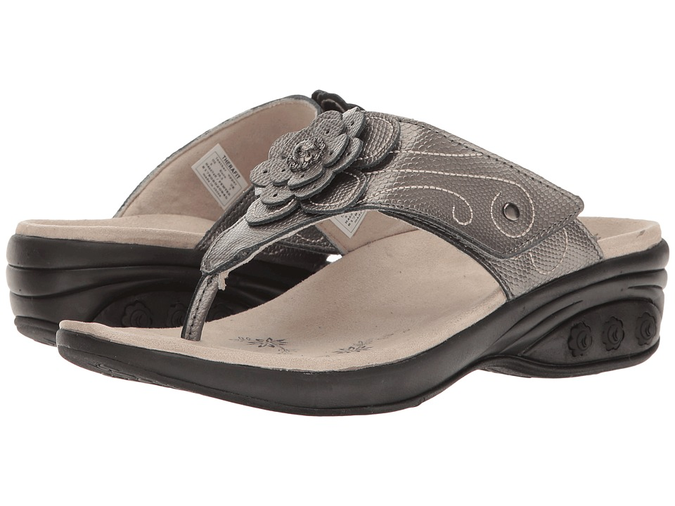THERAFIT - Julia (Pewter) Women's Sandals
