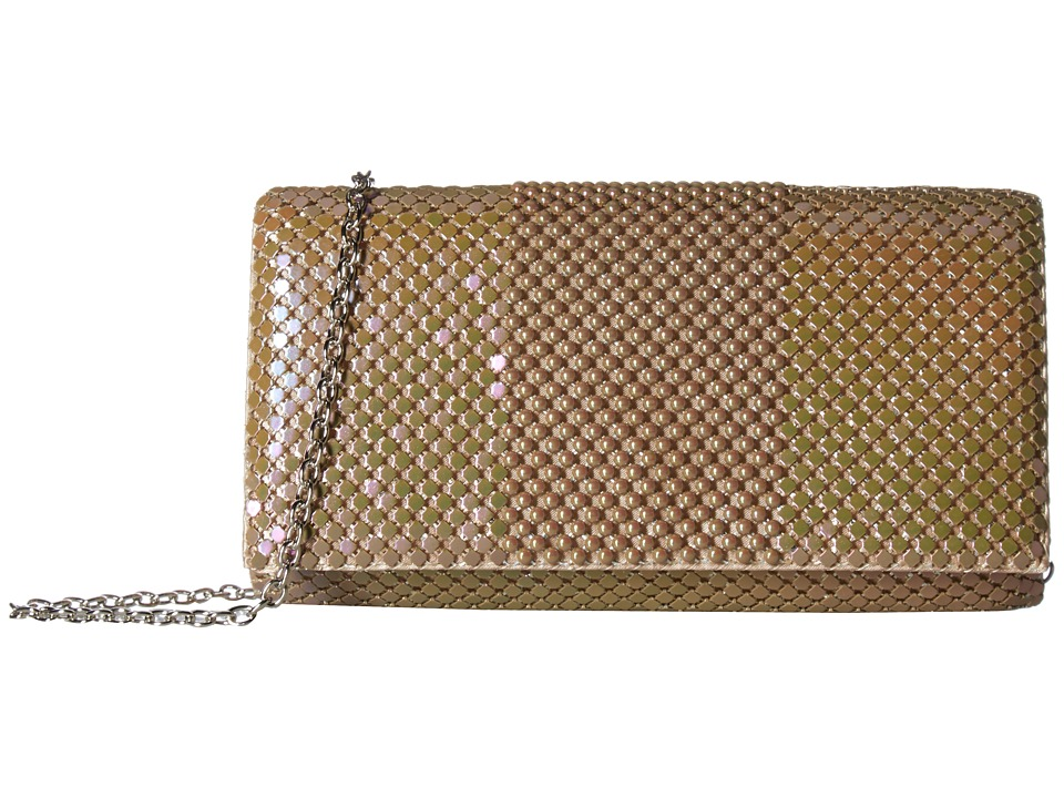 Jessica McClintock - Cassie Ball Mesh Flap (Taupe) Handbags