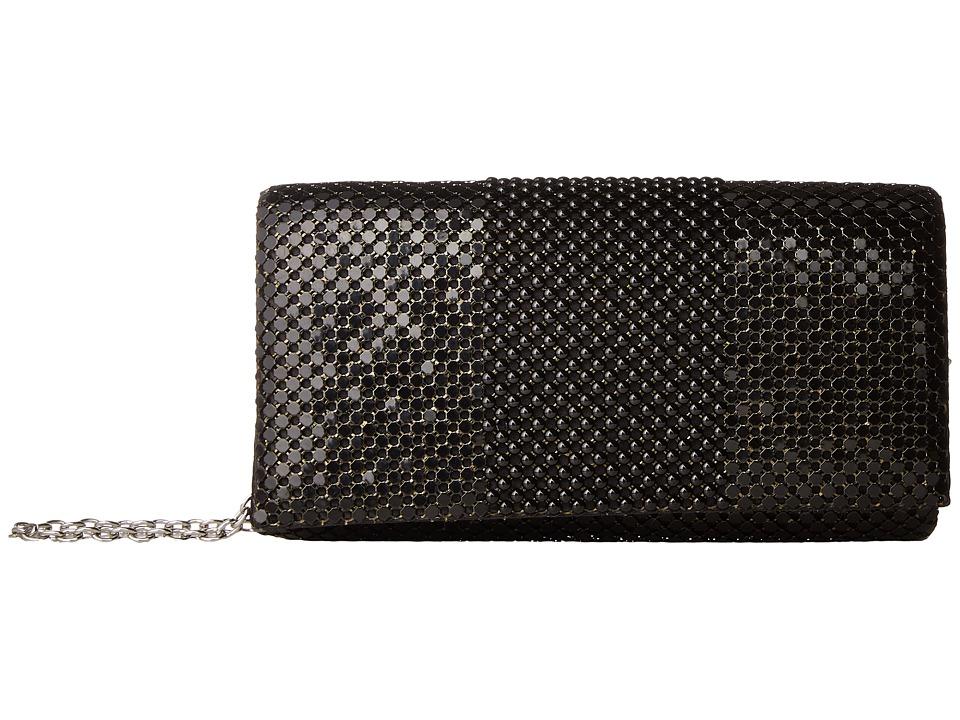 Jessica McClintock - Cassie Ball Mesh Flap (Black) Handbags