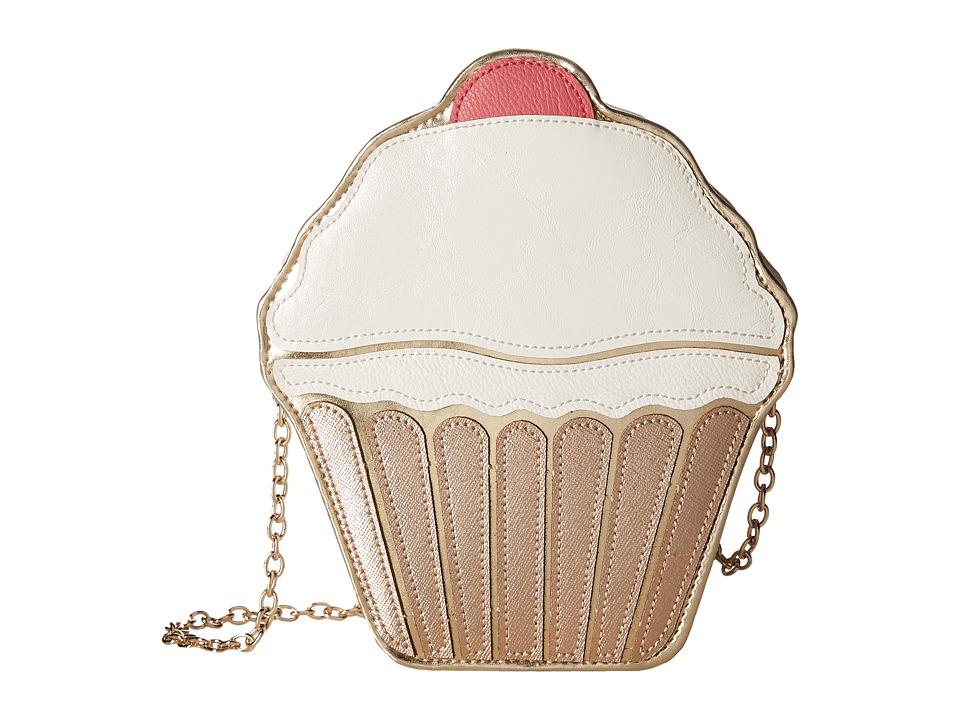 Jessica McClintock - Cupcake Shoulder Bag (White) Shoulder Handbags