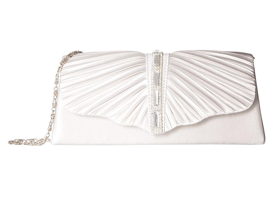 Jessica McClintock - Andrea Satin with Stones (Silver) Handbags