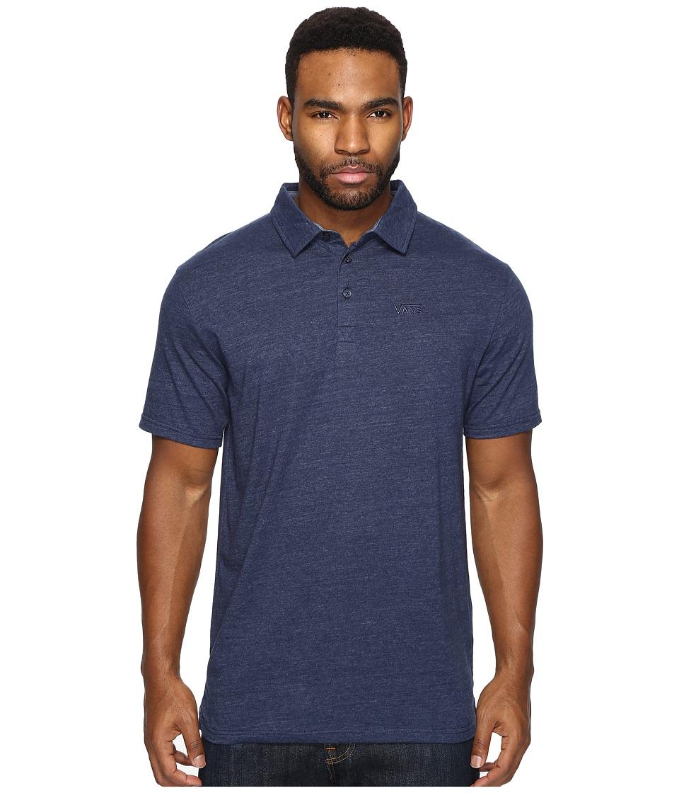 Vans - Classic Polo (Dress Blues Heather) Men's Clothing