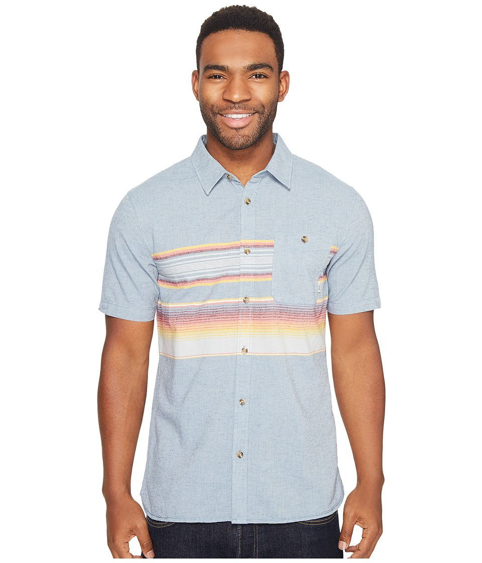 Vans - Wensley Short Sleeve Woven (Blue Mirage Rockaway Stripe) Men's Clothing