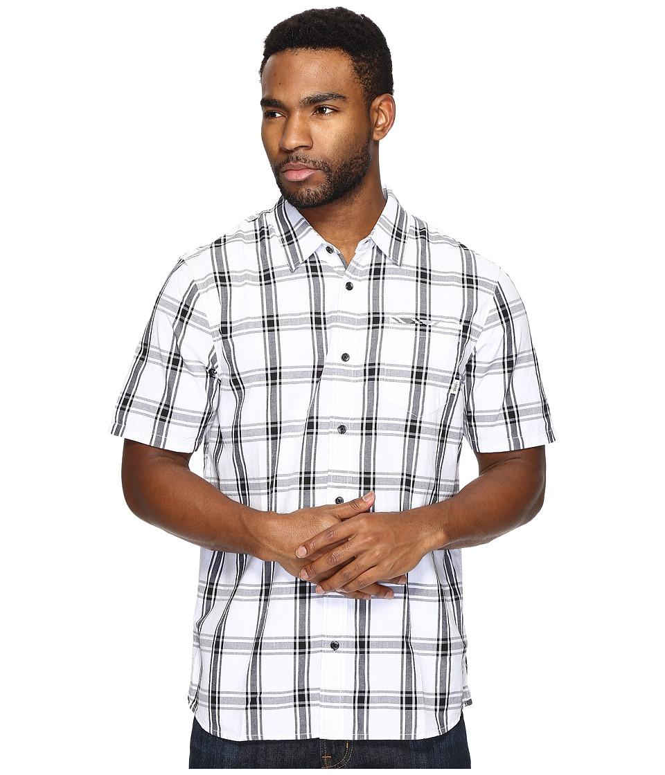 Vans - Stafford Short Sleeve Woven (White/Black) Men's Clothing