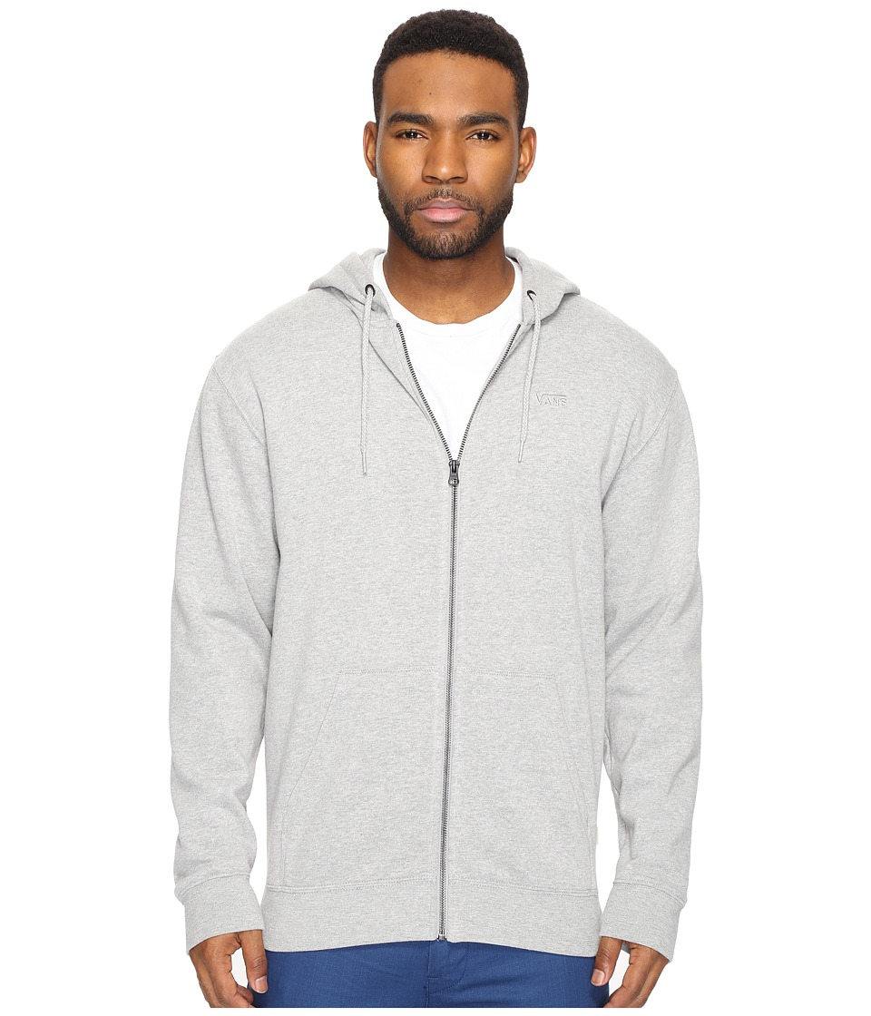 Vans - Core Basic Zip Hoodie IV (Cement Heather) Men's Sweatshirt