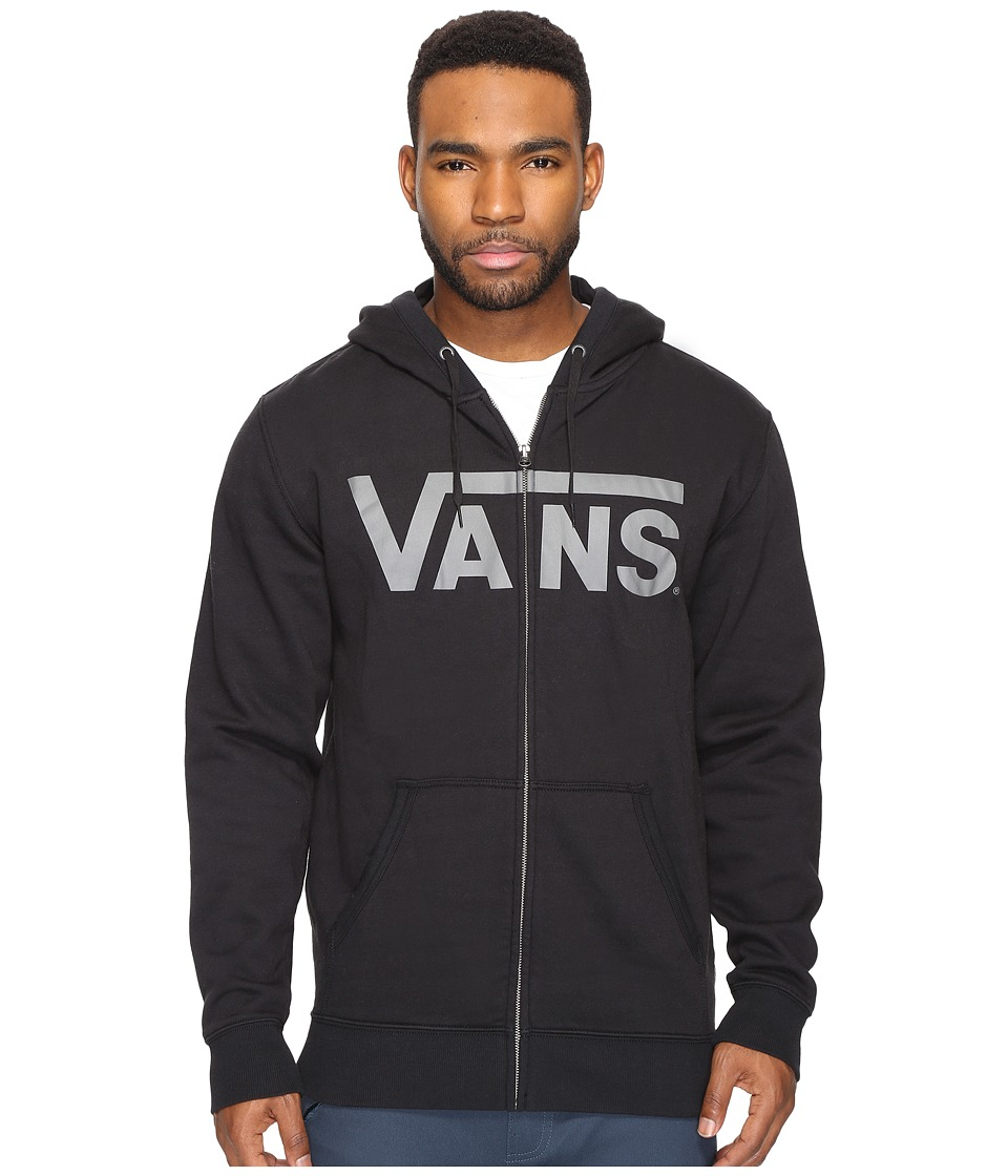 Vans - Classic Zip Hoodie (Black/Pewter) Men's Sweatshirt