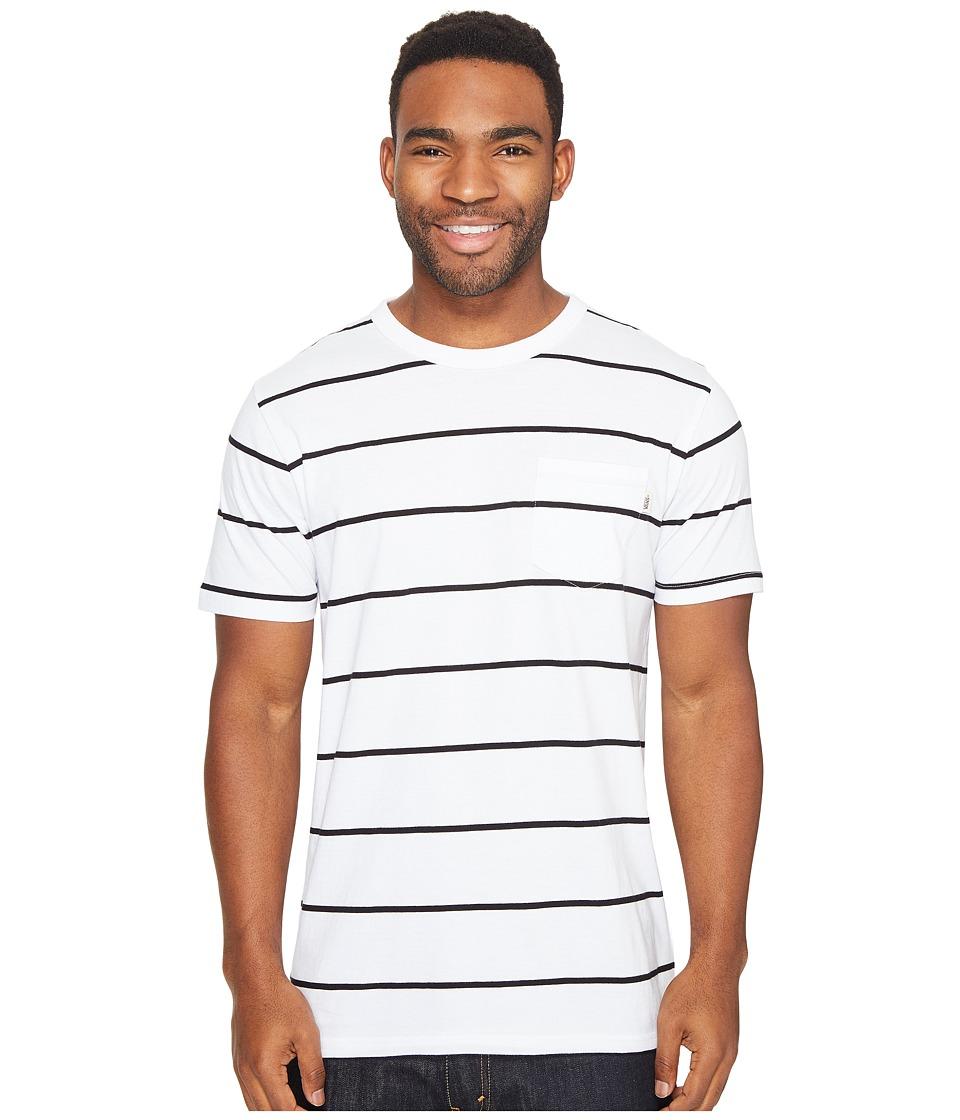 Vans - Enright Short Sleeve Crew (White/Black) Men's Clothing