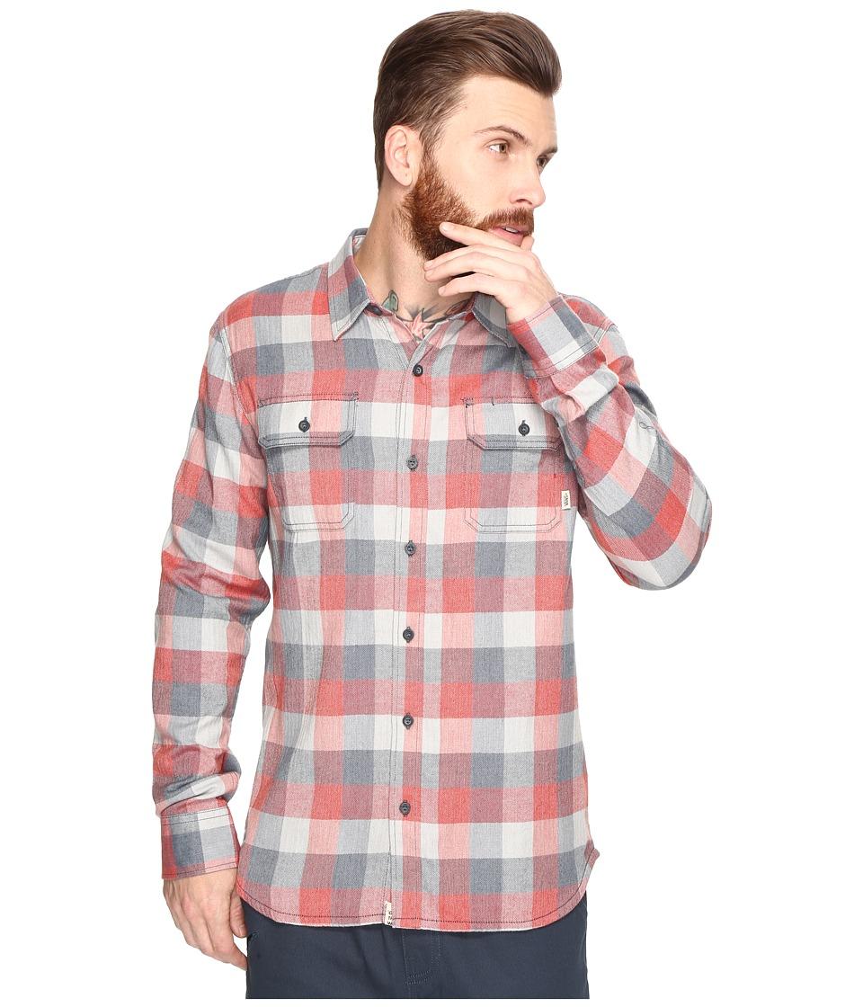 Vans - Alameda Woven (Dark Slate/Tandoori Spice) Men's Clothing