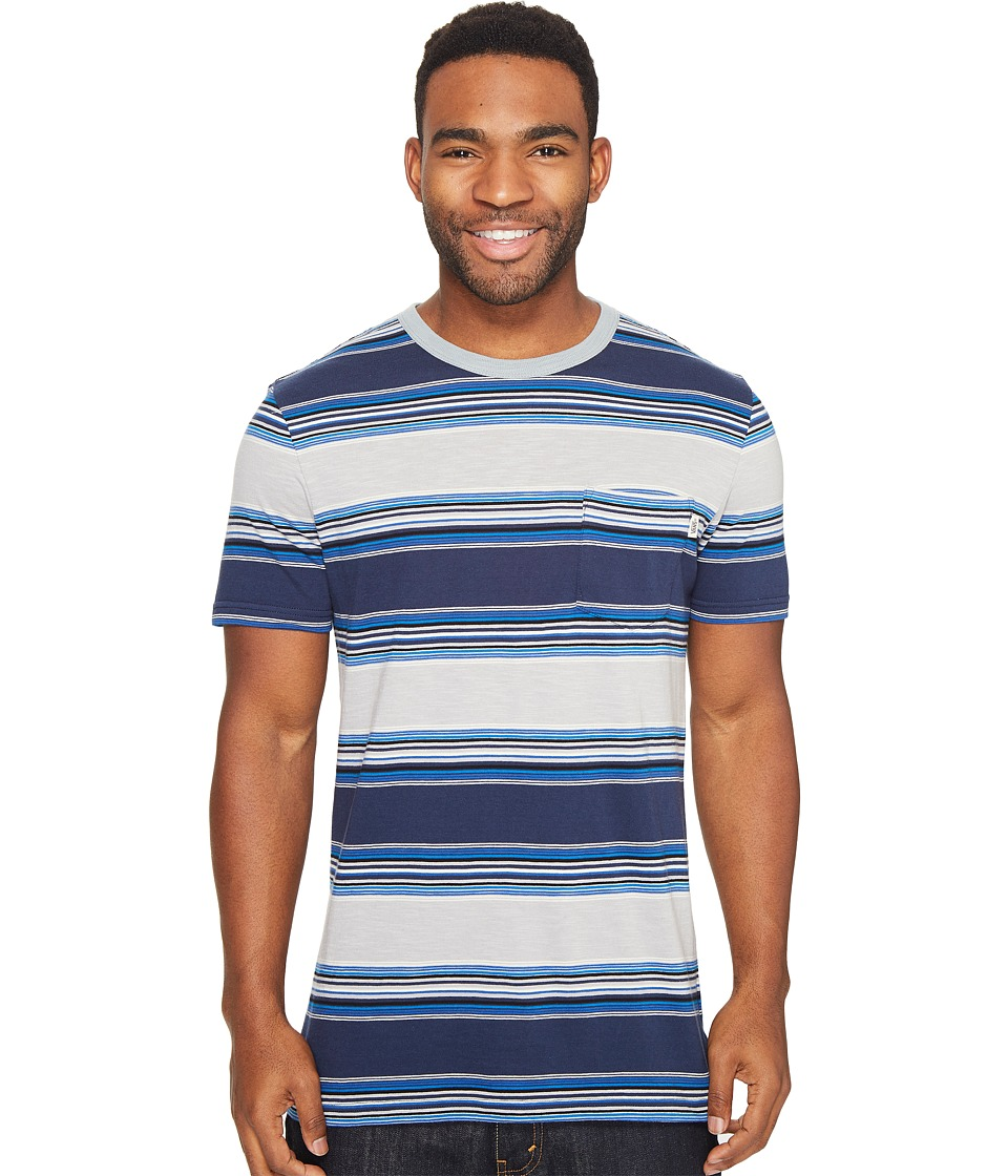 Vans - Brunswick Short Sleeve Crew (Dress Blues) Men's Clothing