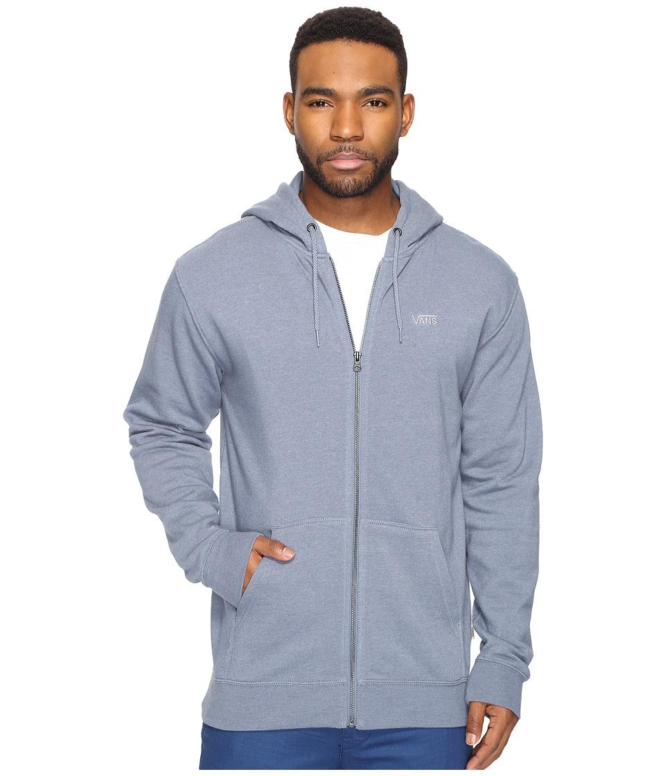 Vans - Core Basic Zip Hoodie IV (Blue Mirage Heather) Men's Sweatshirt