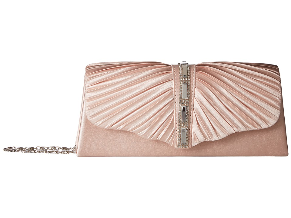 Jessica McClintock - Andrea Satin with Stones (Blush) Handbags