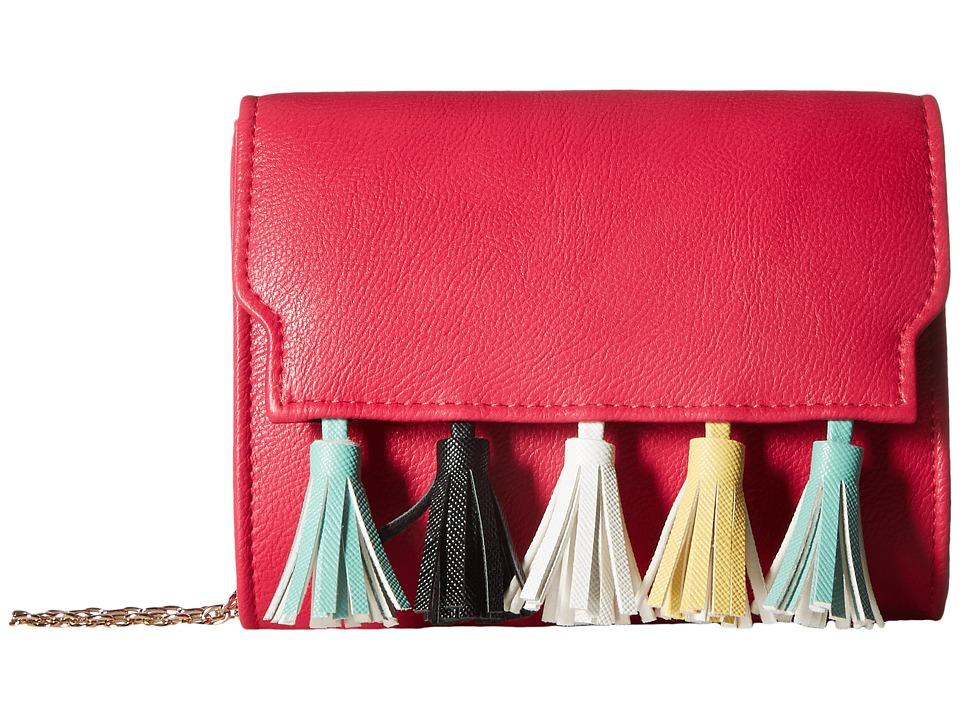 Jessica McClintock - Katie Tassel Shoulder Bag (Hot Pink) Shoulder Handbags