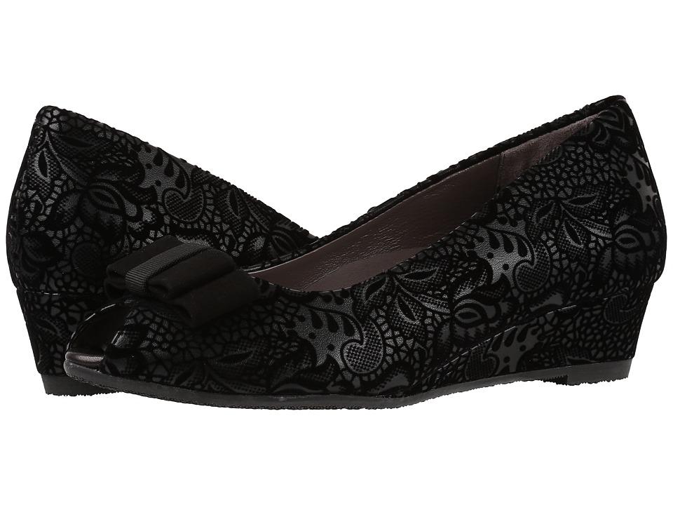 SAS - Ava (Black Floral) Women's Shoes