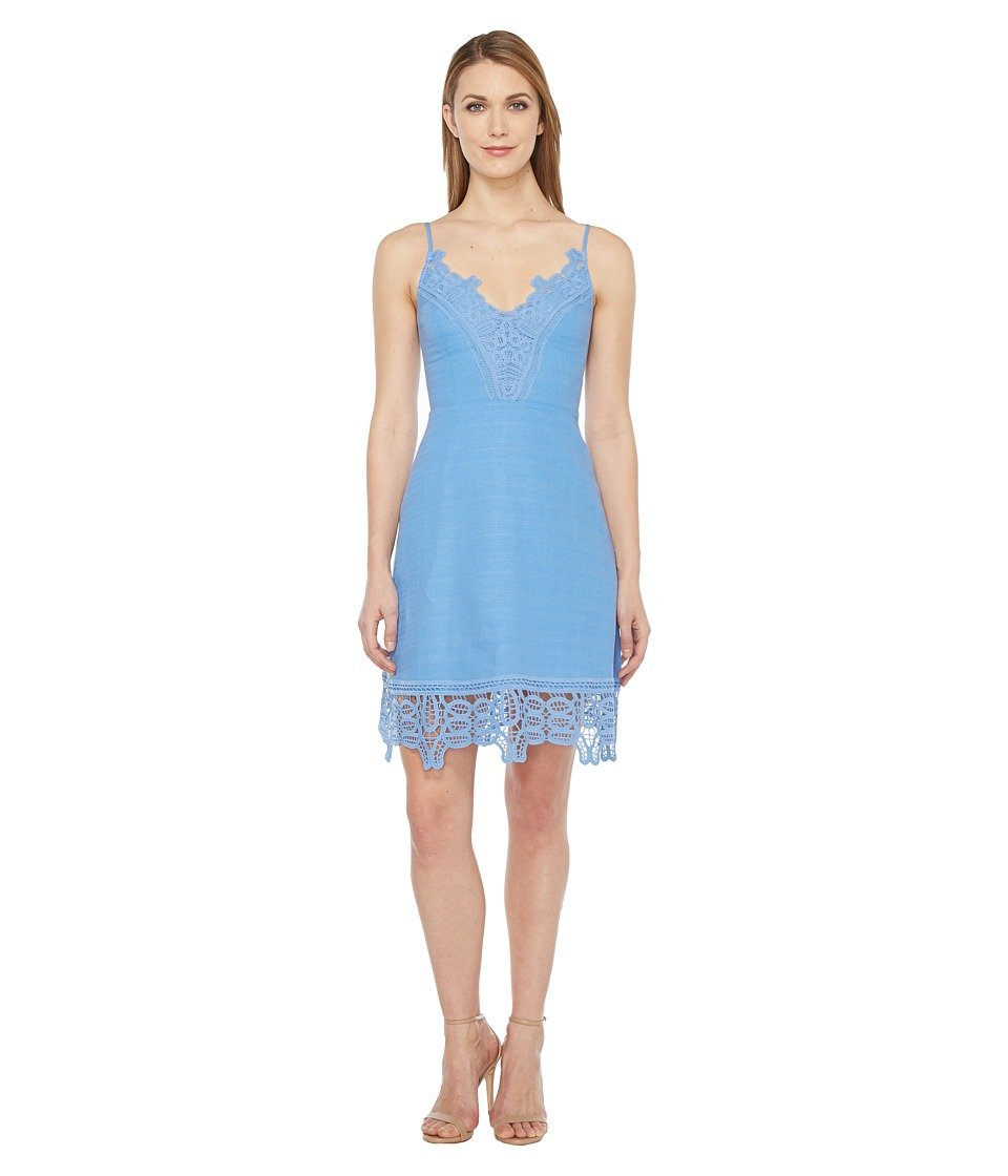Laundry by Shelli Segal - A-Line Dress w/ Lace Trim (Provence) Women's Dress