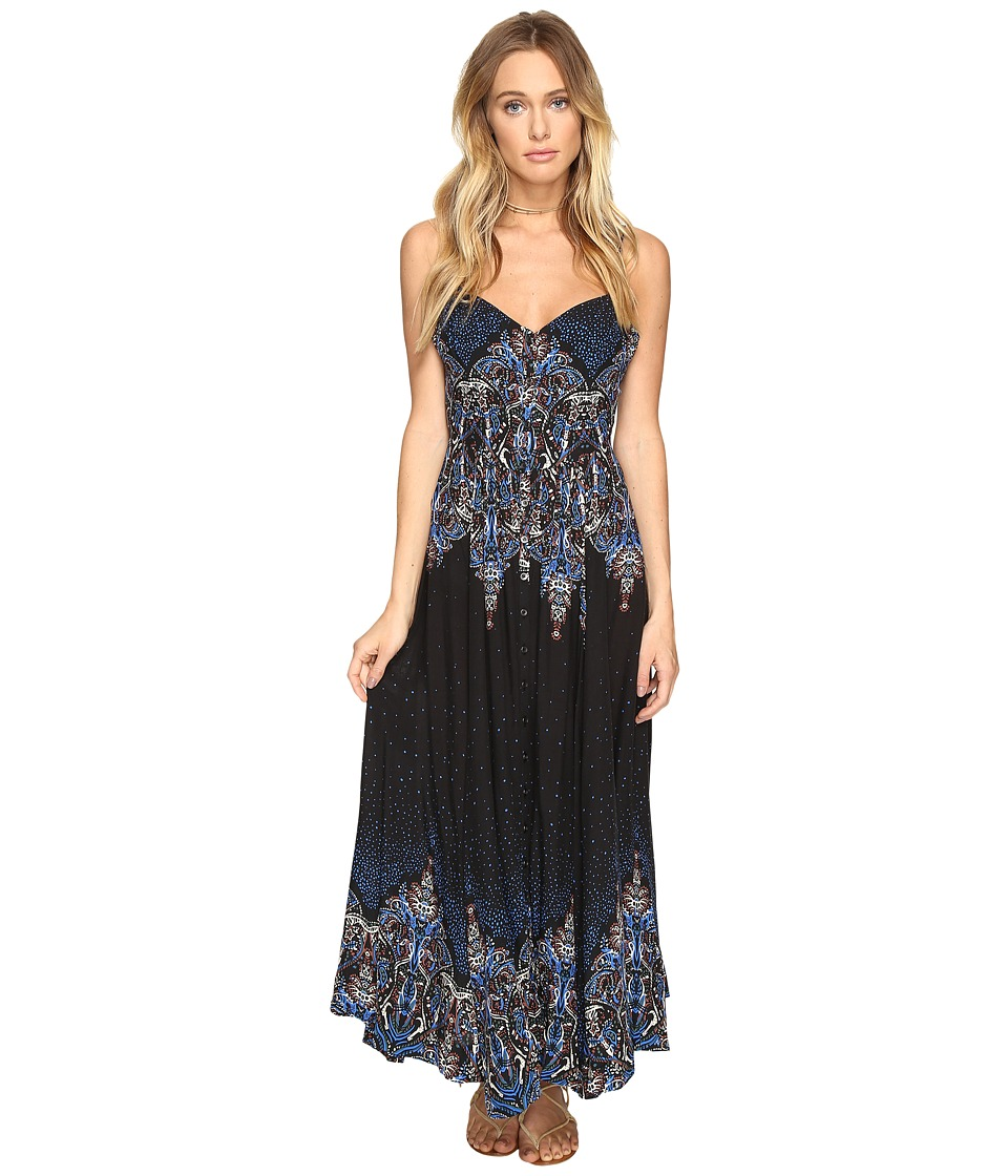Free People - Be My Baby Maxi Dress (Black Combo) Women's Dress