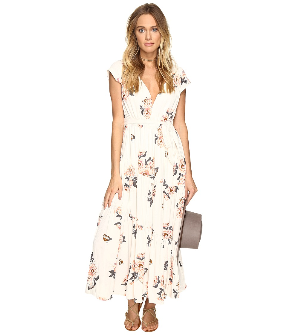 Free People All I Got Printed Maxi (Ivory Combo) Women