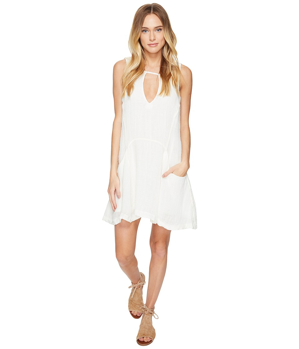Free People - Smooth Sailing Mini Dress (Ivory) Women's Dress