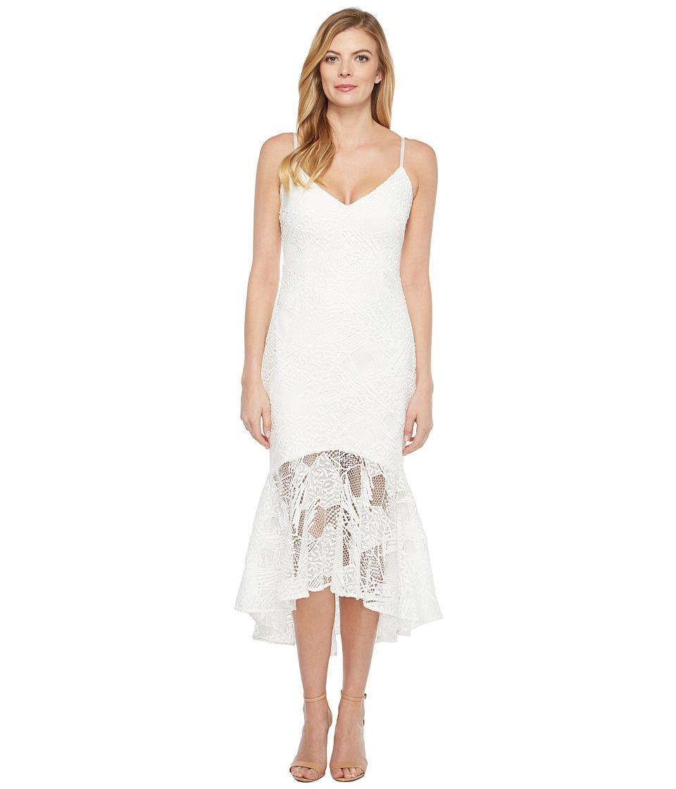 Laundry by Shelli Segal Venise Slip Cocktail Dress (Optic White) Women