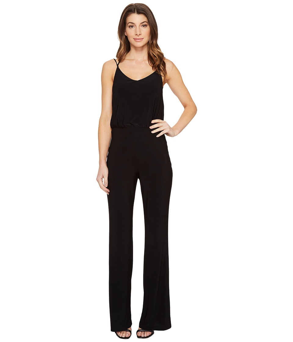 Laundry by Shelli Segal - Cross-Back Jumpsuit (Black) Women's Jumpsuit & Rompers One Piece
