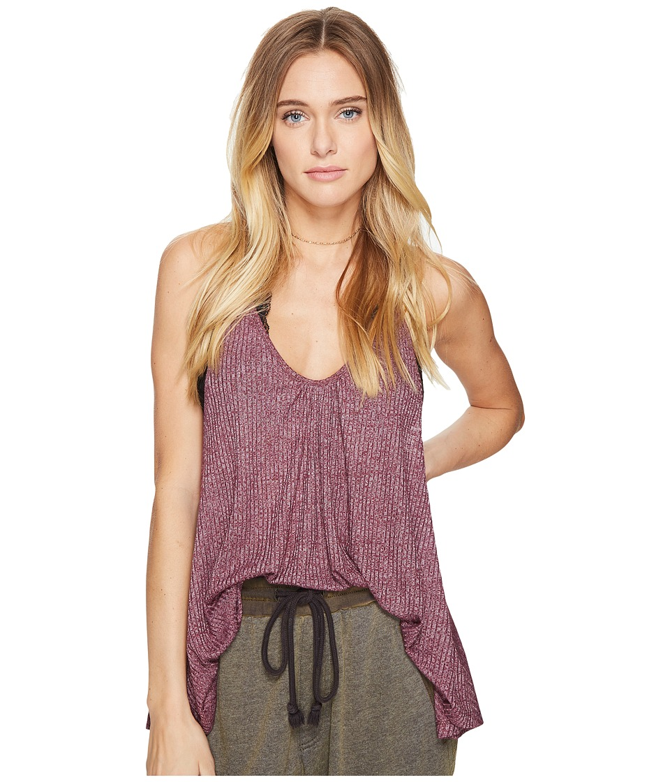 Free People - Wear Me Now Tank Top (Wine) Women's Sleeveless
