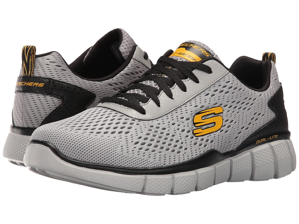 SKECHERS - Equalizer 2.0 Settle The Score (Gray/Yellow) Men's Shoes