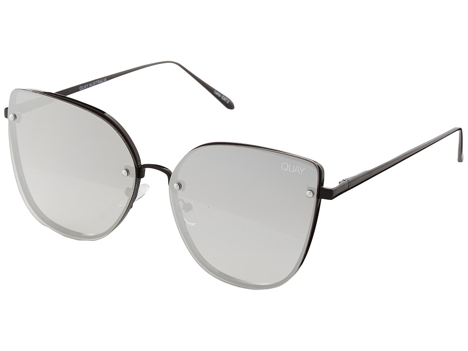 QUAY AUSTRALIA - Lexi (Black/Silver) Fashion Sunglasses