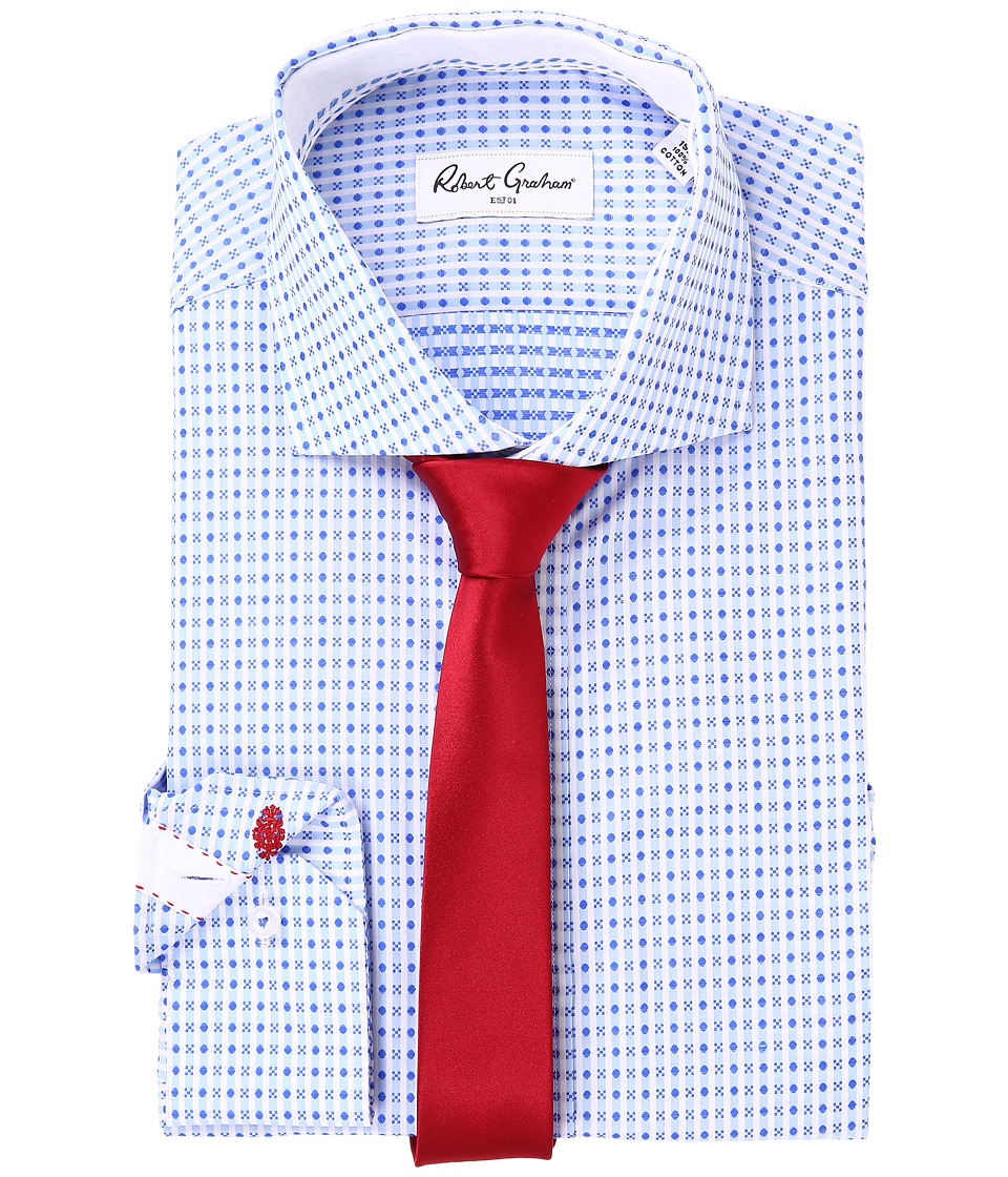 Robert Graham - Chai Dress Shirt (Blue) Men's Clothing