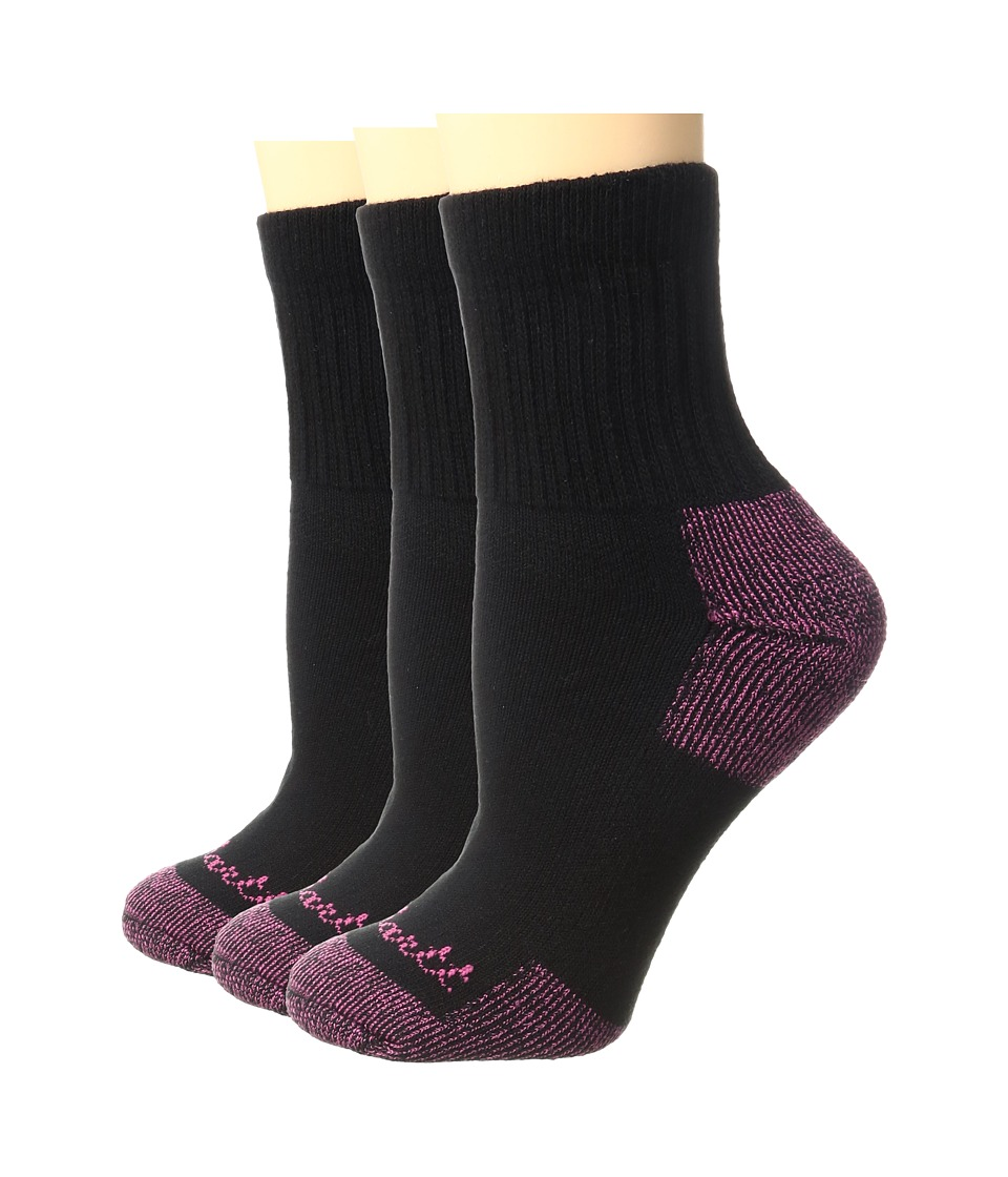 Carhartt - Cotton Ankle 3-Pack (Black) Women's Low Cut Socks Shoes