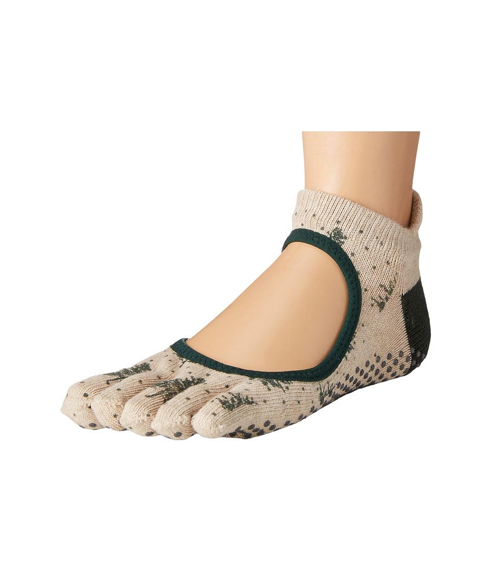 toesox - Bellarina Full Toe w/ Grip (Evergreen) Women's Crew Cut Socks Shoes