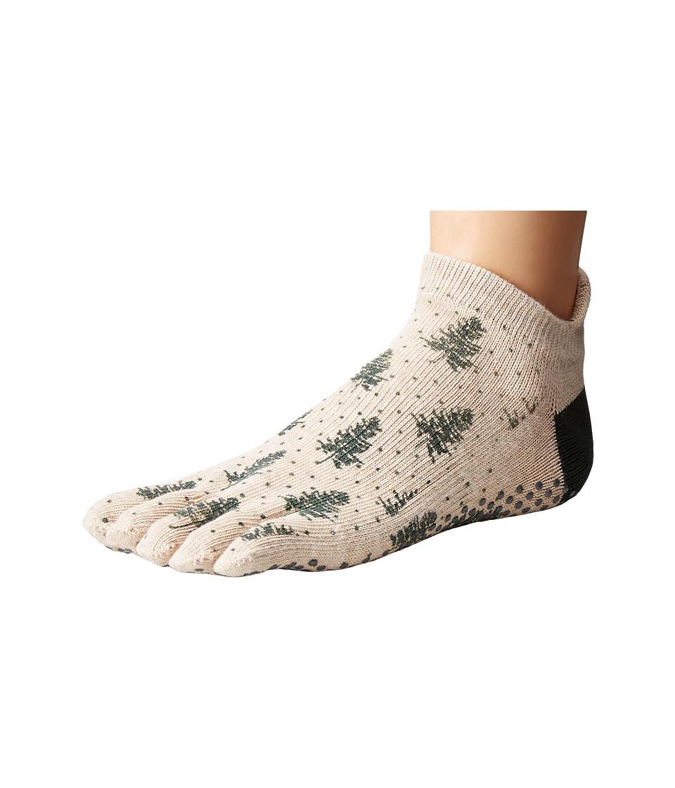 toesox - Low Rise Full Toe w/ Grip (Evergreen) Women's Quarter Length Socks Shoes