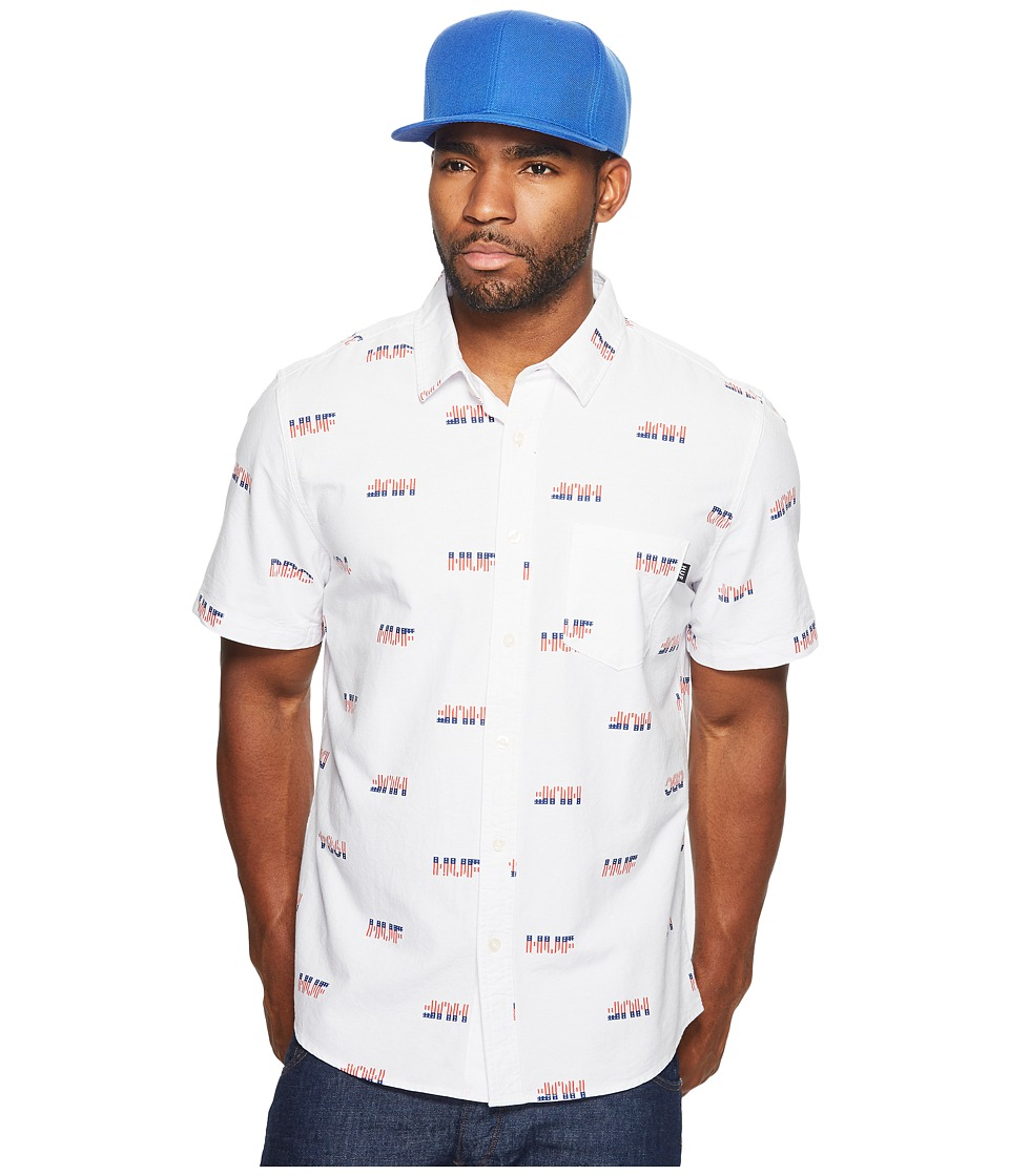 HUF - 1984 Chambray Short Sleeve Shirt (White) Men's Short Sleeve Button Up
