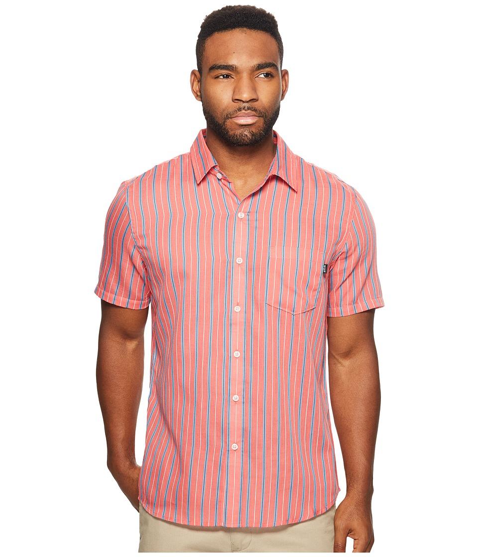 HUF - Strummer Short Sleeve Shirt (Salmon) Men's Short Sleeve Button Up