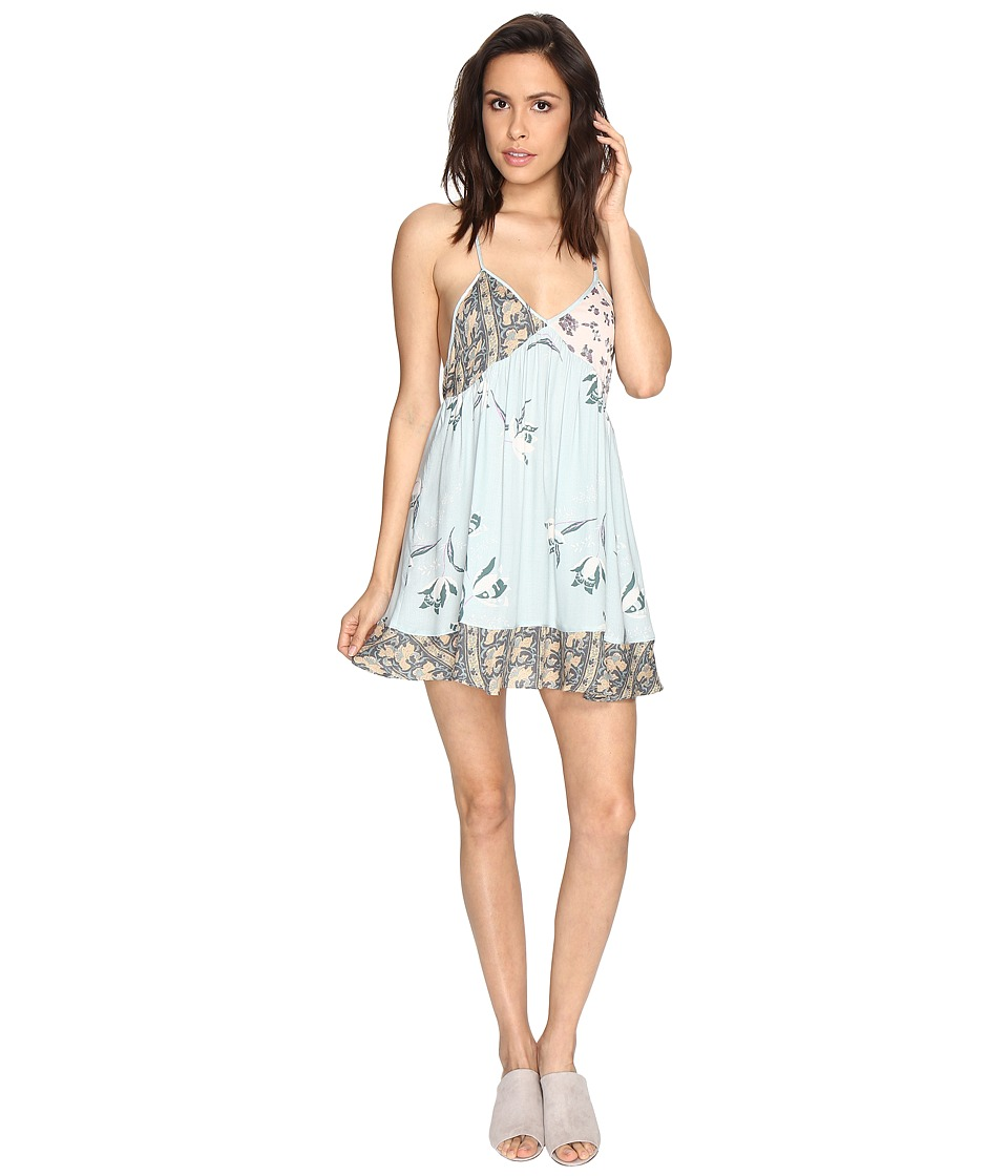 Free People - All Mixed Up Slip (Green Combo) Women's Underwear