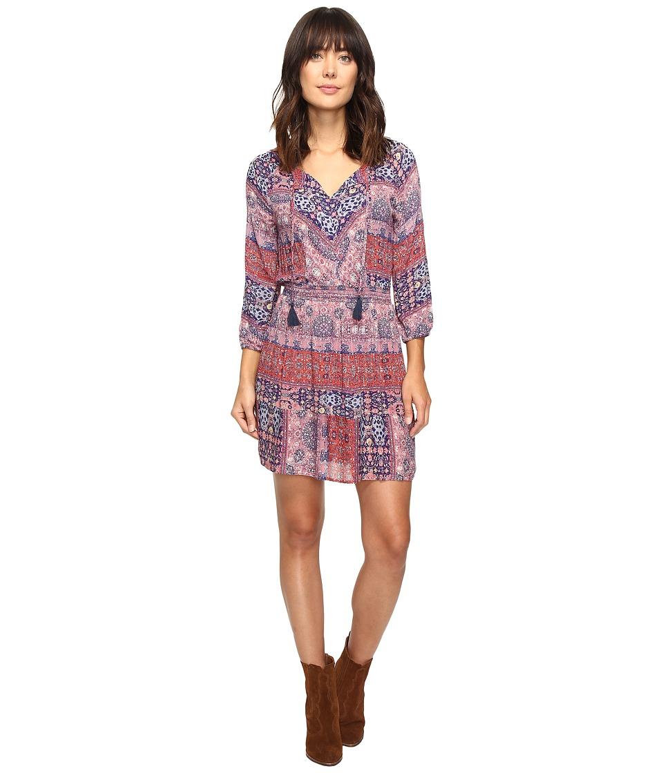 Lucky Brand - Mosaic Striped Dress (Multi) Women's Dress