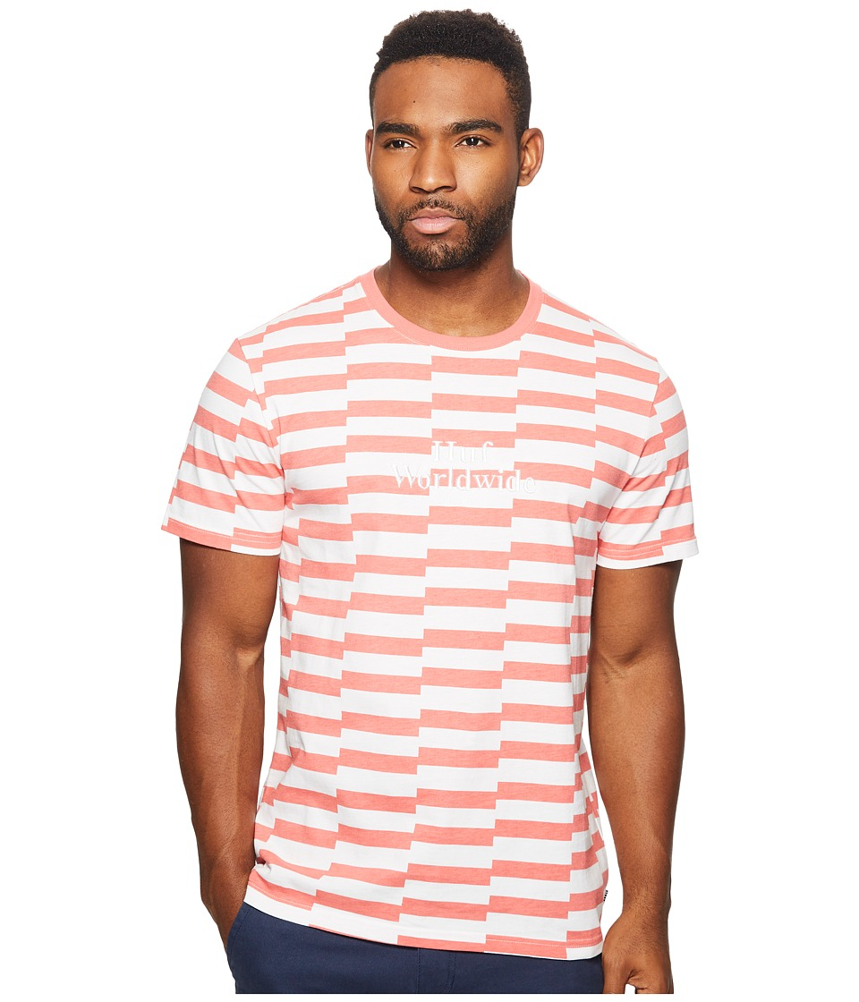HUF - Off Set Shirt (Salmon) Men's Short Sleeve Button Up