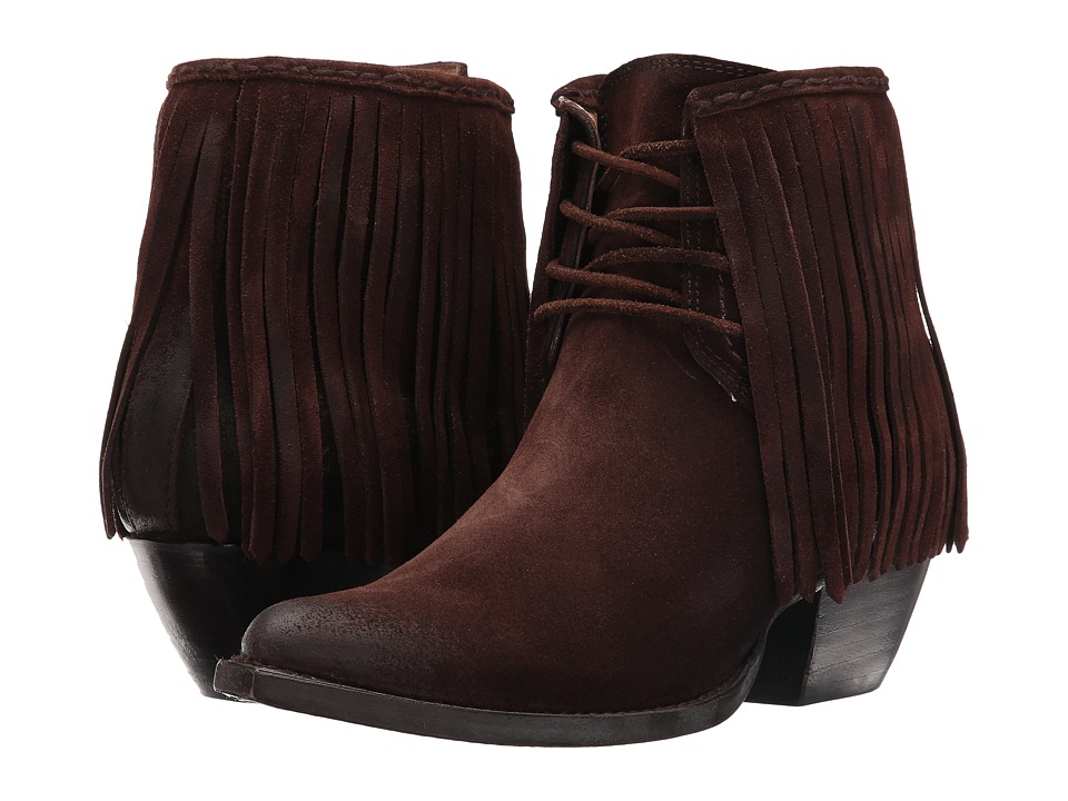 Frye Sacha Fringe (Chocolate) Women