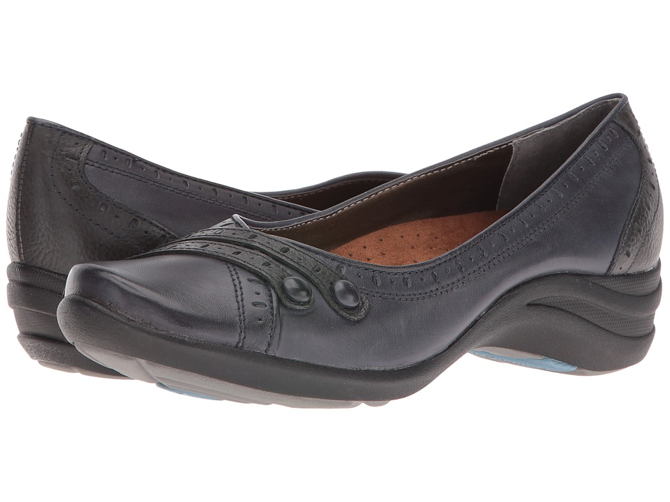 Hush Puppies - Burlesque (Navy Leather) Women's Slip on  Shoes