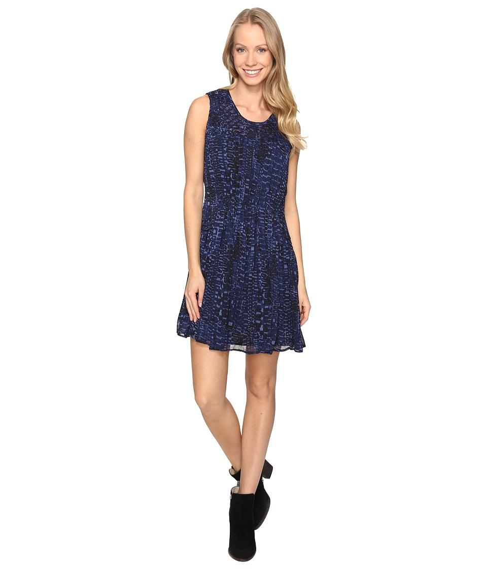 Lucky Brand - Geo Print Dress (Blue Multi) Women's Dress