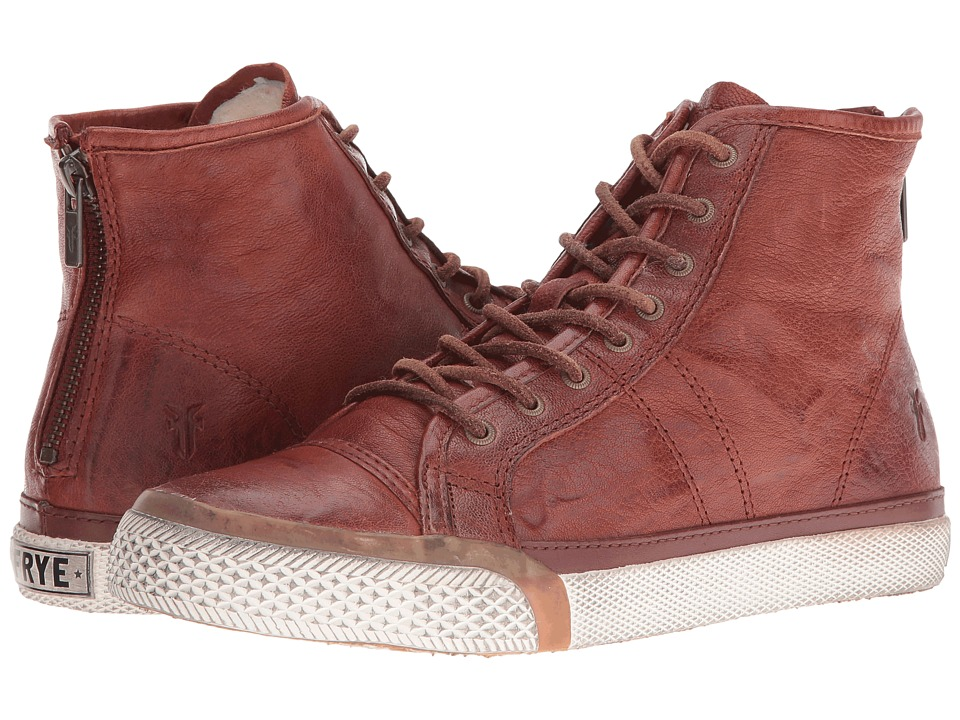 Frye Greene High Back Zip (Cognac) Women