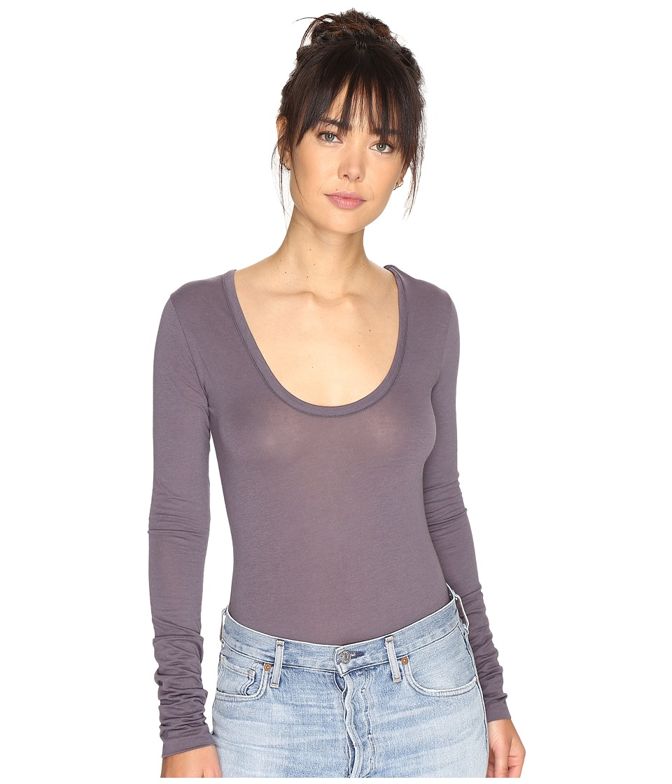Free People - Easy Peasy T-Shirt Bodysuit (Grey) Women's Underwear