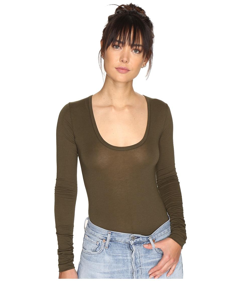 Free People - Easy Peasy T-Shirt Bodysuit (Moss) Women's Underwear